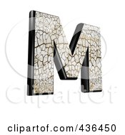 Royalty Free RF Clipart Illustration Of A 3d Cracked Earth Symbol Capital Letter M by chrisroll