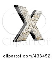 Royalty Free RF Clipart Illustration Of A 3d Cracked Earth Symbol Capital Letter X by chrisroll