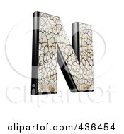 Royalty Free RF Clipart Illustration Of A 3d Cracked Earth Symbol Capital Letter N by chrisroll