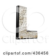 3d Cracked Earth Symbol Capital Letter L