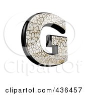 Royalty Free RF Clipart Illustration Of A 3d Cracked Earth Symbol Capital Letter G by chrisroll