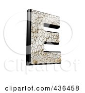 Royalty Free RF Clipart Illustration Of A 3d Cracked Earth Symbol Capital Letter E by chrisroll
