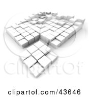 Clipart Illustration Of A 3d Foundation Of White Cubes