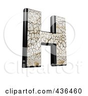 Royalty Free RF Clipart Illustration Of A 3d Cracked Earth Symbol Capital Letter H by chrisroll
