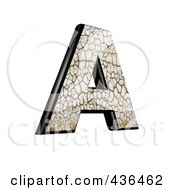 Royalty Free RF Clipart Illustration Of A 3d Cracked Earth Symbol Capital Letter A by chrisroll