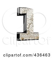 Royalty Free RF Clipart Illustration Of A 3d Cracked Earth Symbol Number 1 by chrisroll