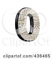 Royalty Free RF Clipart Illustration Of A 3d Cracked Earth Symbol Number 0