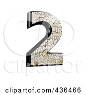 Royalty Free RF Clipart Illustration Of A 3d Cracked Earth Symbol Number 2