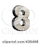 3d Cracked Earth Symbol Number 8