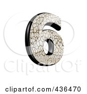 Royalty Free RF Clipart Illustration Of A 3d Cracked Earth Symbol Number 6