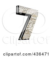 Royalty Free RF Clipart Illustration Of A 3d Cracked Earth Symbol Number 7