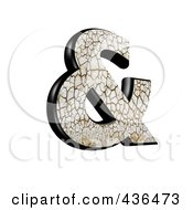 Royalty Free RF Clipart Illustration Of A 3d Cracked Earth Symbol Ampersand by chrisroll
