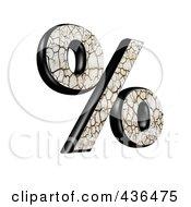 3d Cracked Earth Symbol Percent by chrisroll