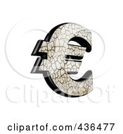 Royalty Free RF Clipart Illustration Of A 3d Cracked Earth Symbol Euro