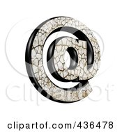 Royalty Free RF Clipart Illustration Of A 3d Cracked Earth Symbol Email At Arobase by chrisroll