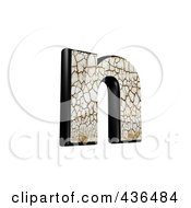 Royalty Free RF Clipart Illustration Of A 3d Cracked Earth Symbol Lowercase Letter N