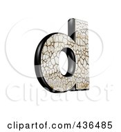 3d Cracked Earth Symbol Lowercase Letter D
