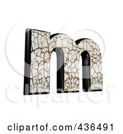 Royalty Free RF Clipart Illustration Of A 3d Cracked Earth Symbol Lowercase Letter M by chrisroll