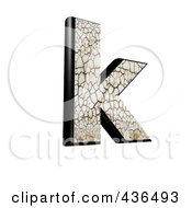 Royalty Free RF Clipart Illustration Of A 3d Cracked Earth Symbol Lowercase Letter K