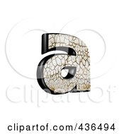 Royalty Free RF Clipart Illustration Of A 3d Cracked Earth Symbol Lowercase Letter A by chrisroll