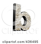 Royalty Free RF Clipart Illustration Of A 3d Cracked Earth Symbol Lowercase Letter B by chrisroll