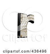 3d Cracked Earth Symbol Lowercase Letter R