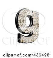 3d Cracked Earth Symbol Lowercase Letter G