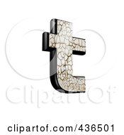 3d Cracked Earth Symbol Lowercase Letter T