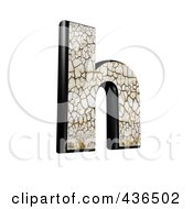 Royalty Free RF Clipart Illustration Of A 3d Cracked Earth Symbol Lowercase Letter H