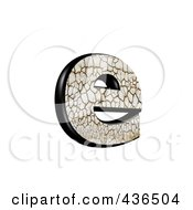 Royalty Free RF Clipart Illustration Of A 3d Cracked Earth Symbol Lowercase Letter E by chrisroll