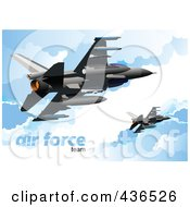 Royalty Free RF Clipart Illustration Of An Air Force Team 3