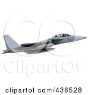 Royalty Free RF Clipart Illustration Of An Air Force Jet 6