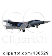 Royalty Free RF Clipart Illustration Of An Air Force Jet 9