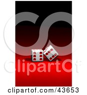 Clipart Illustration Of Two Red And White Dice On Red