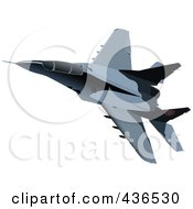 Royalty Free RF Clipart Illustration Of An Air Force Jet 2