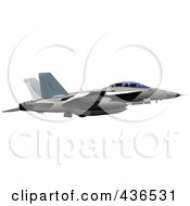 Royalty Free RF Clipart Illustration Of An Air Force Jet 8