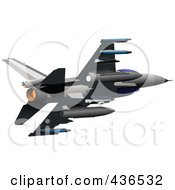 Royalty Free RF Clipart Illustration Of An Air Force Jet 4