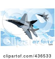 Royalty Free RF Clipart Illustration Of An Air Force Team 1