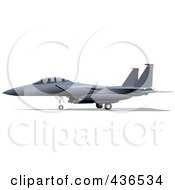 Royalty Free RF Clipart Illustration Of An Air Force Jet 3