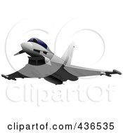 Royalty Free RF Clipart Illustration Of An Air Force Jet 5