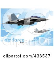 Royalty Free RF Clipart Illustration Of An Air Force Team 6