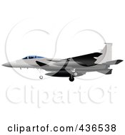 Royalty Free RF Clipart Illustration Of An Air Force Jet 10