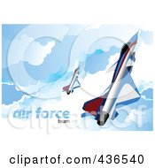 Royalty Free RF Clipart Illustration Of An Air Force Team 5