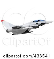 Royalty Free RF Clipart Illustration Of An Air Force Jet 11