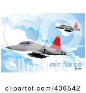 Royalty Free RF Clipart Illustration Of An Air Force Team 2