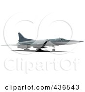 Royalty Free RF Clipart Illustration Of A Commercial Airliner 5