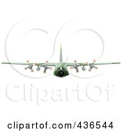 Royalty Free RF Clipart Illustration Of A Commercial Airliner 2 by leonid