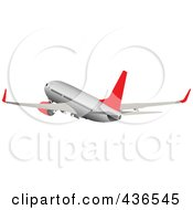 Royalty Free RF Clipart Illustration Of A Commercial Airliner 1