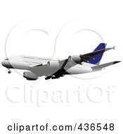 Royalty Free RF Clipart Illustration Of A Commercial Airliner 4
