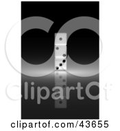 Clipart Illustration Of Three 3d Dice Stacked On Top Of One Another by stockillustrations